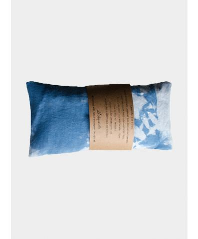 Indigo Lavender Eye Pillow - Organic Cotton/Bamboo Silk/Silk
