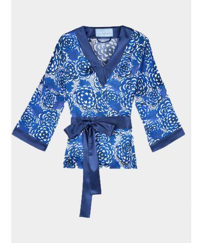 Lotus Silk Tunic - Blue