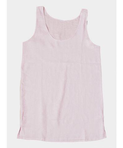 Linen Nightdress - Blush Pink