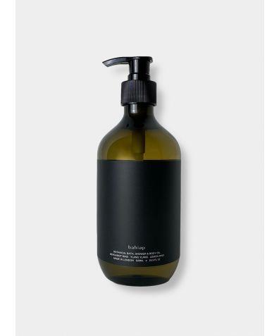 Botanical Bath, Shower & Body Oil 500ml - Vetivert Root, Patchouli & Cedarwood