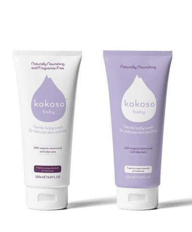 Kokoso Baby Hair and Body Wash - Softly Fragranced, 200ml