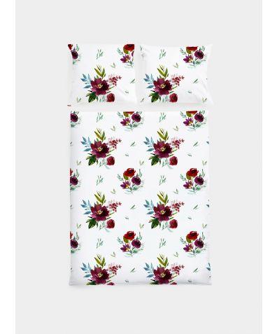 Cotton Sateen Duvet Set - Bouquets