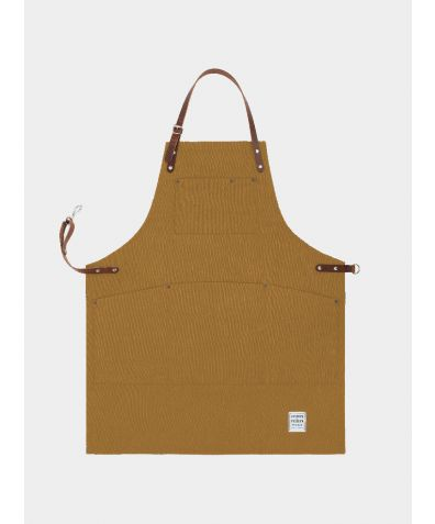 Original Apron with Leather - Trade Brown