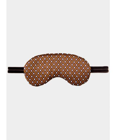 Silk Sleep Mask - Brown Rhombus