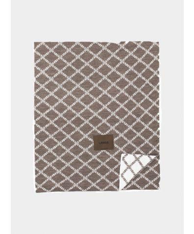 Merino Wool Blanket - Brown White