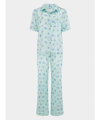 Women's Poppy Glacier Butterfly Silk Pyjama Trouser - Set/Separate