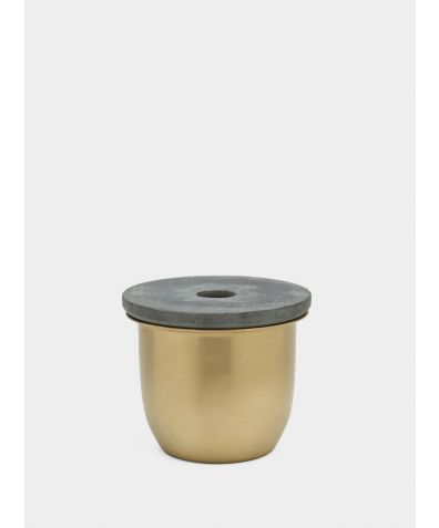 C3 | Small Container - Brass with Soapstone