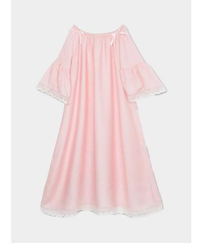 Girls Camelia Nightdress - Pink Polka Dots