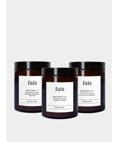Fais Botanicals Naturally Scented Soy Wax Candles Set