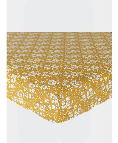 Liberty Print Fitted Sheet - Capel Mustard