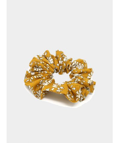 Liberty Print Hair Scrunchie - Capel Gold