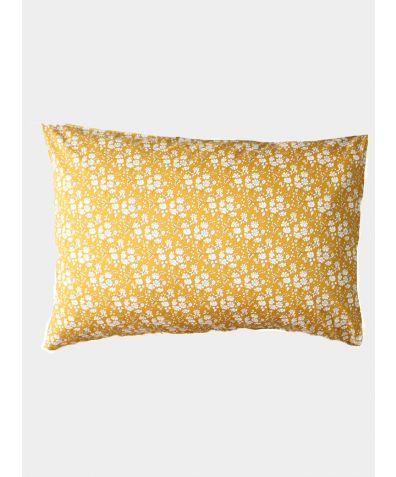 Liberty Print Pillowcase - Capel Mustard