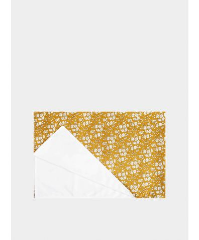 Liberty Print Baby Blanket - Capel Mustard