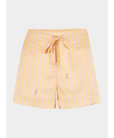 Women's Silk Pyjama Short - Rosie Lemonade Stripe