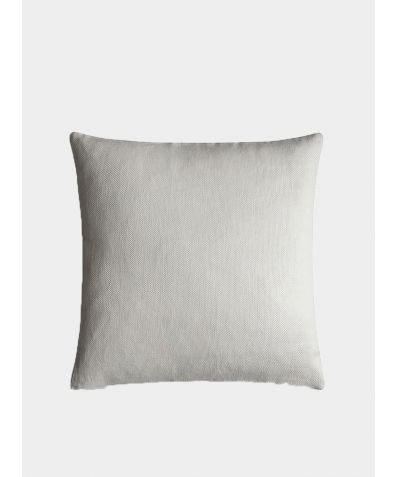 Linen Cushion Cover Motte Collection - Chalk