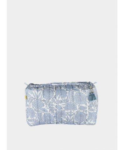 Amritsar Floral Wash Bag - Chambray