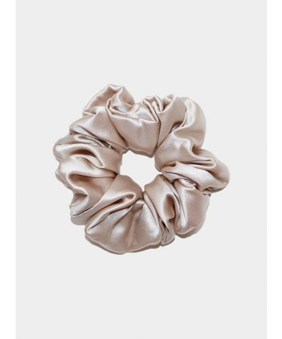 Luxe Pure Silk Hair Scrunchie - Champagne