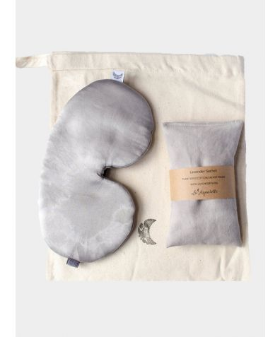 Sleep Mask & Lavender Sachet Sleep Set - Charcoal