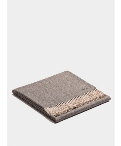 Plaid Exclusive Fishbone Blanket - Charcoal-Beige