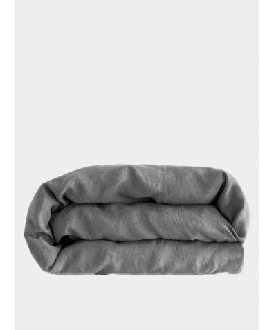Linen Duvet Cover - Lens Charcoal