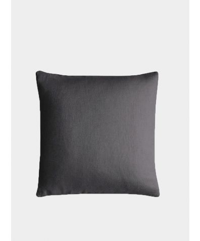Linen Cushion Cover Motte Collection - Charcoal Brown