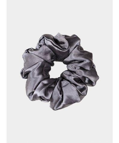 Luxe Pure Silk Hair Scrunchie - Charcoal