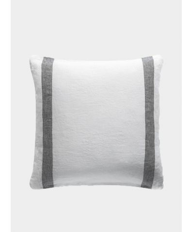 Linen Cushion Cover Arles Collection - Charcoal Stripe