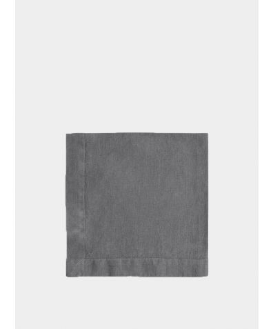 Linen Napkin Mitered Hem Collection - Charcoal