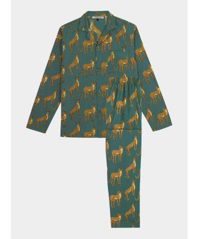Men's Cotton Pyjama Trouser Set - Cheetah