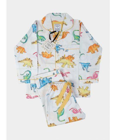 Children's Cotton Pyjama Trouser Set - Dino