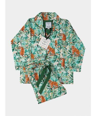 Children's Cotton Pyjama Trouser Set - Jungle