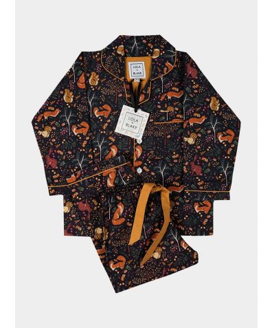 Children's Cotton Pyjama Trouser Set - Woodland