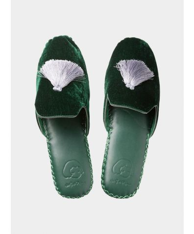 Mens Classic Handmade Slipper - Green