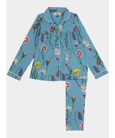 Children's Cotton Pyjama Trouser Set - Field Flowers