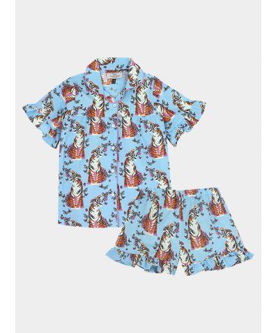 Children's Cotton Pyjama Trouser Set - Roaring Butterflies