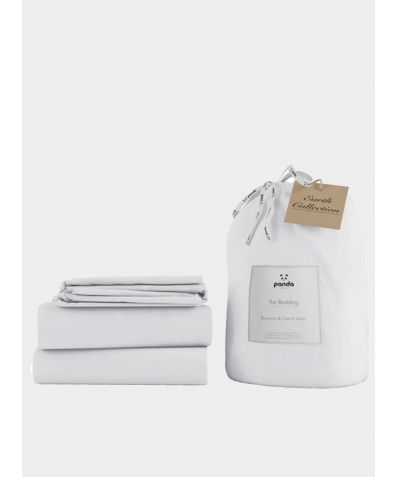 Bamboo & Linen Bed Set - Coconut White