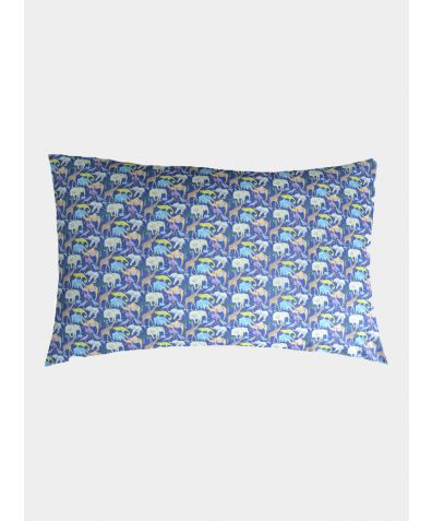 Liberty Print Pillowcase - Queue for the Zoo Colbolt