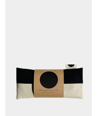 Meditation Eye Pillow - Black/Natural