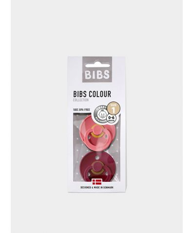 Dummies/Pacifiers (0 - 6 Months) - Coral-Ruby