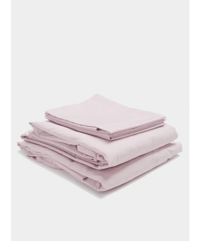 300 Thread Count Egyptian Cotton Percale Bed Set - Blush