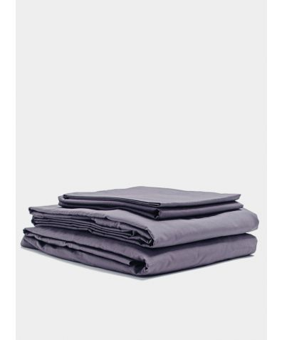300 Thread Count Egyptian Cotton Percale Bed Set - Slate