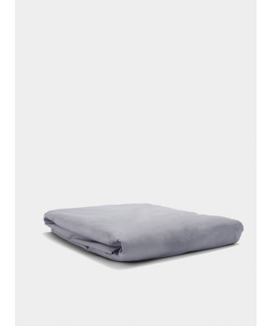 300 Thread Count Egyptian Cotton Percale Fitted Sheet - Light Grey
