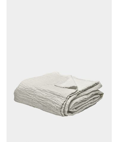 Linen & Cotton Throw - Clay