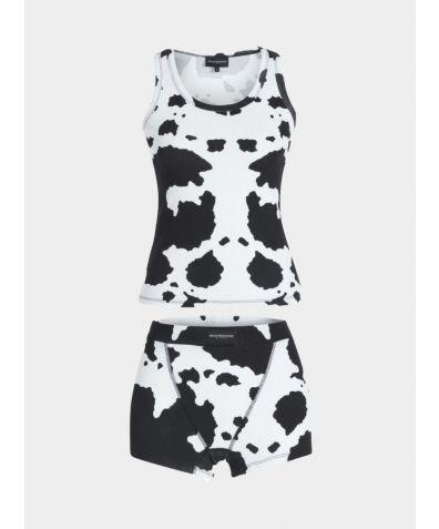 Pyjama Cotton Boxer Set - Cow