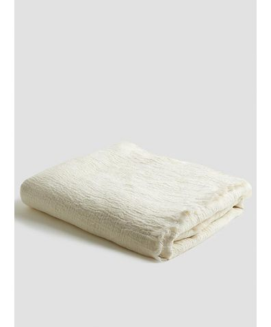 Linen Crinkle Throw - Cream