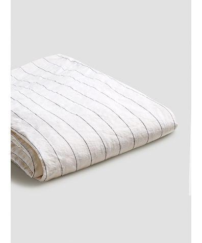 Linen Duvet Cover - Luna Stripe