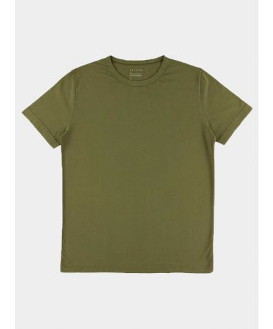 Crew Neck T-Shirt - Dark Olive