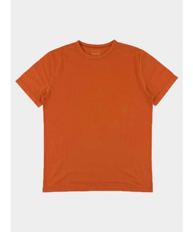 Crew Neck T-Shirt - Rust