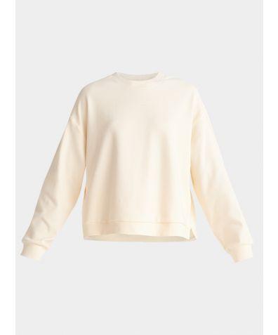 Cotton Crew Neck Sweatshirt - Cream