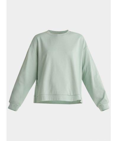 Cotton Crew Neck Sweatshirt - Light Green